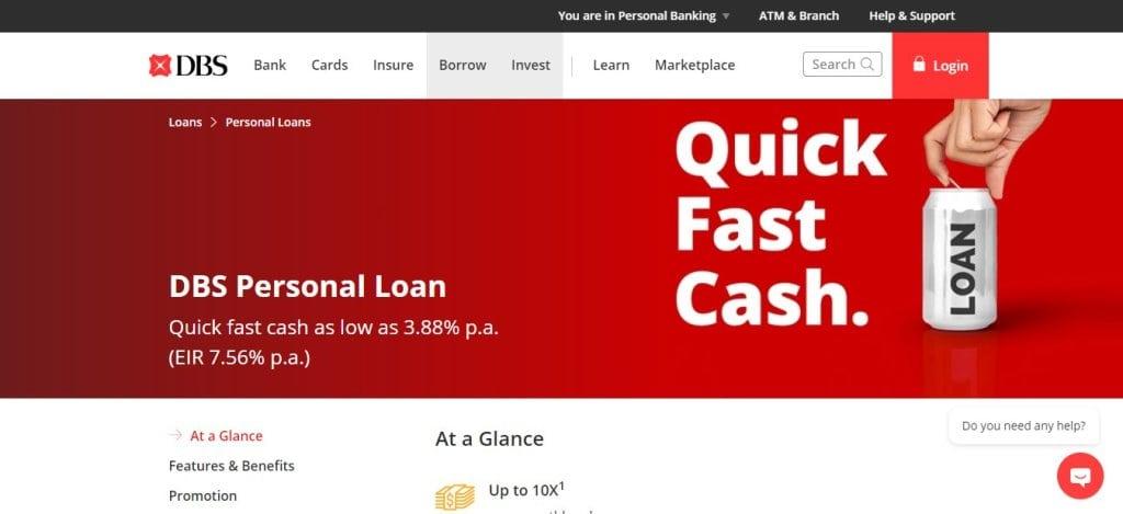 DBS Top Bank Loans in Singapore