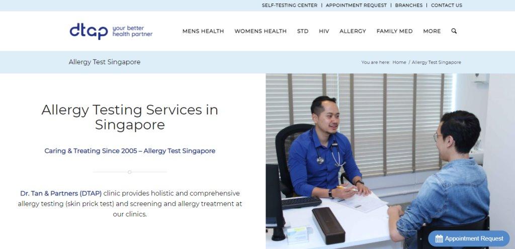 DTAP Top Allergy Doctors in Singapore