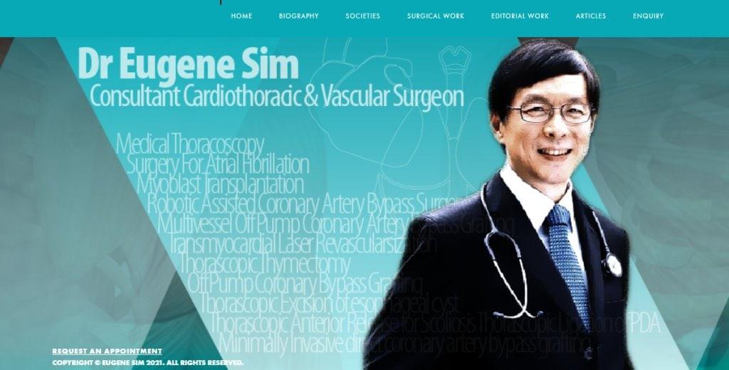 Eugene Sim Top Heart Surgeons in Singapore