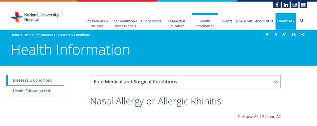 NUH Top Allergy Doctors in Singapore