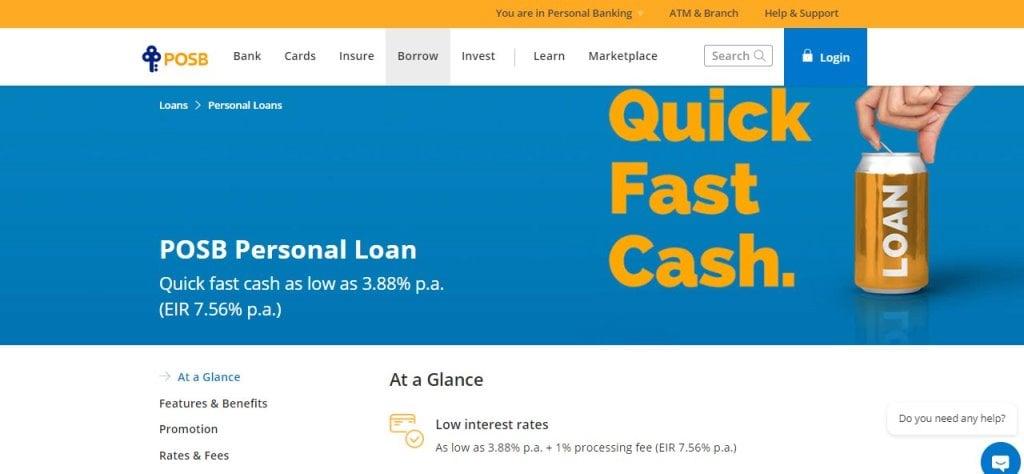 POSB Top Bank Loans in Singapore