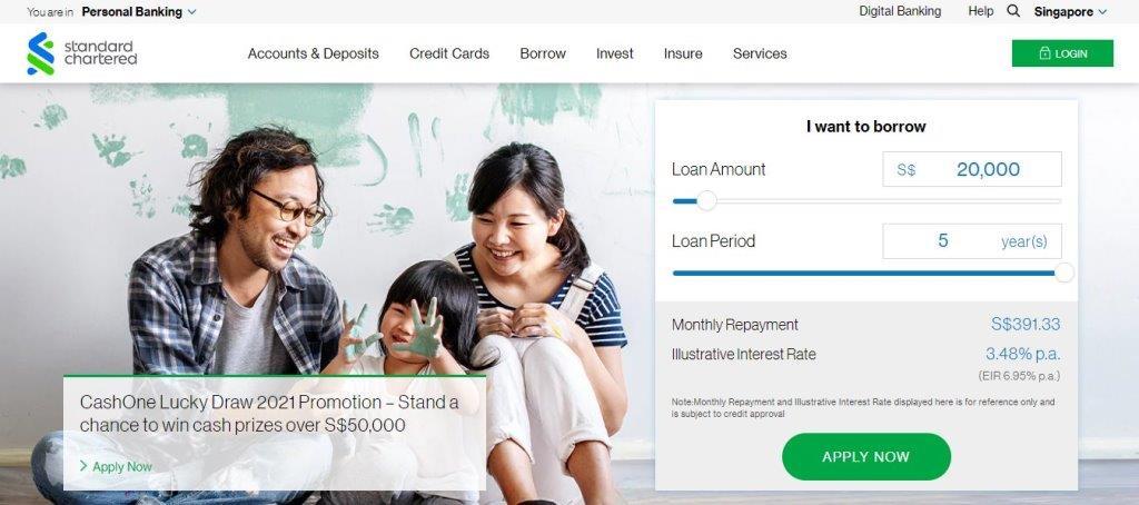 Standard Change Top Bank Loans in Singapore