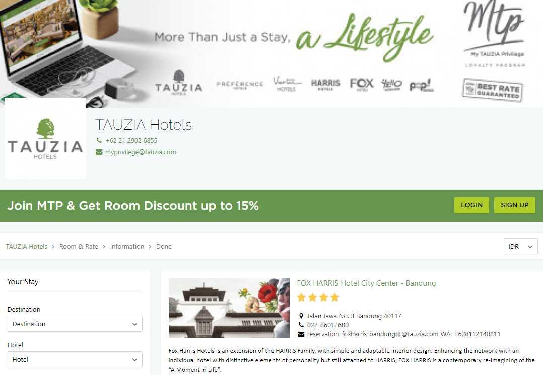 Tauzia Top Batam Hotels and Resorts