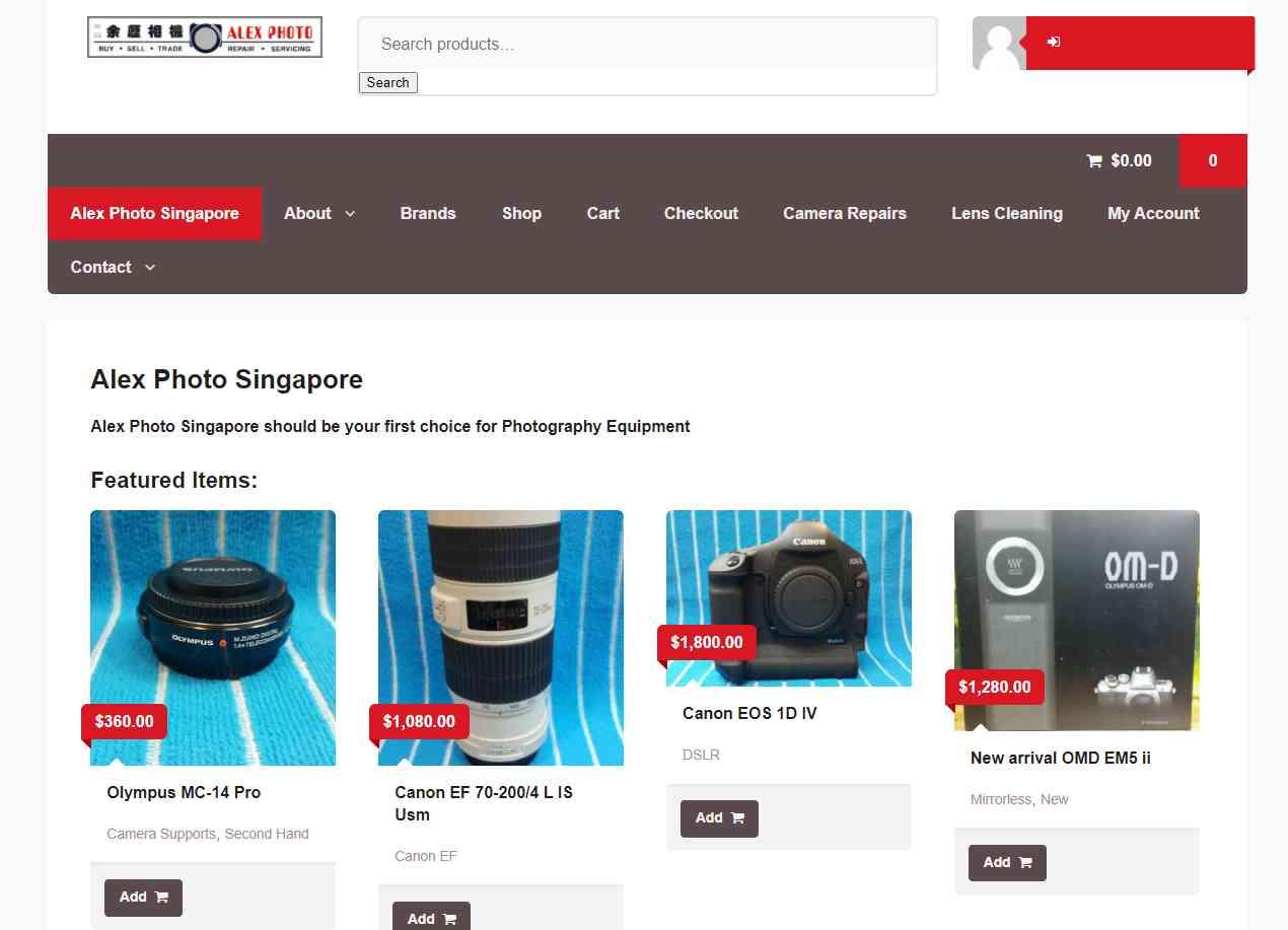 alex photo Top Camera Shops in Singapore