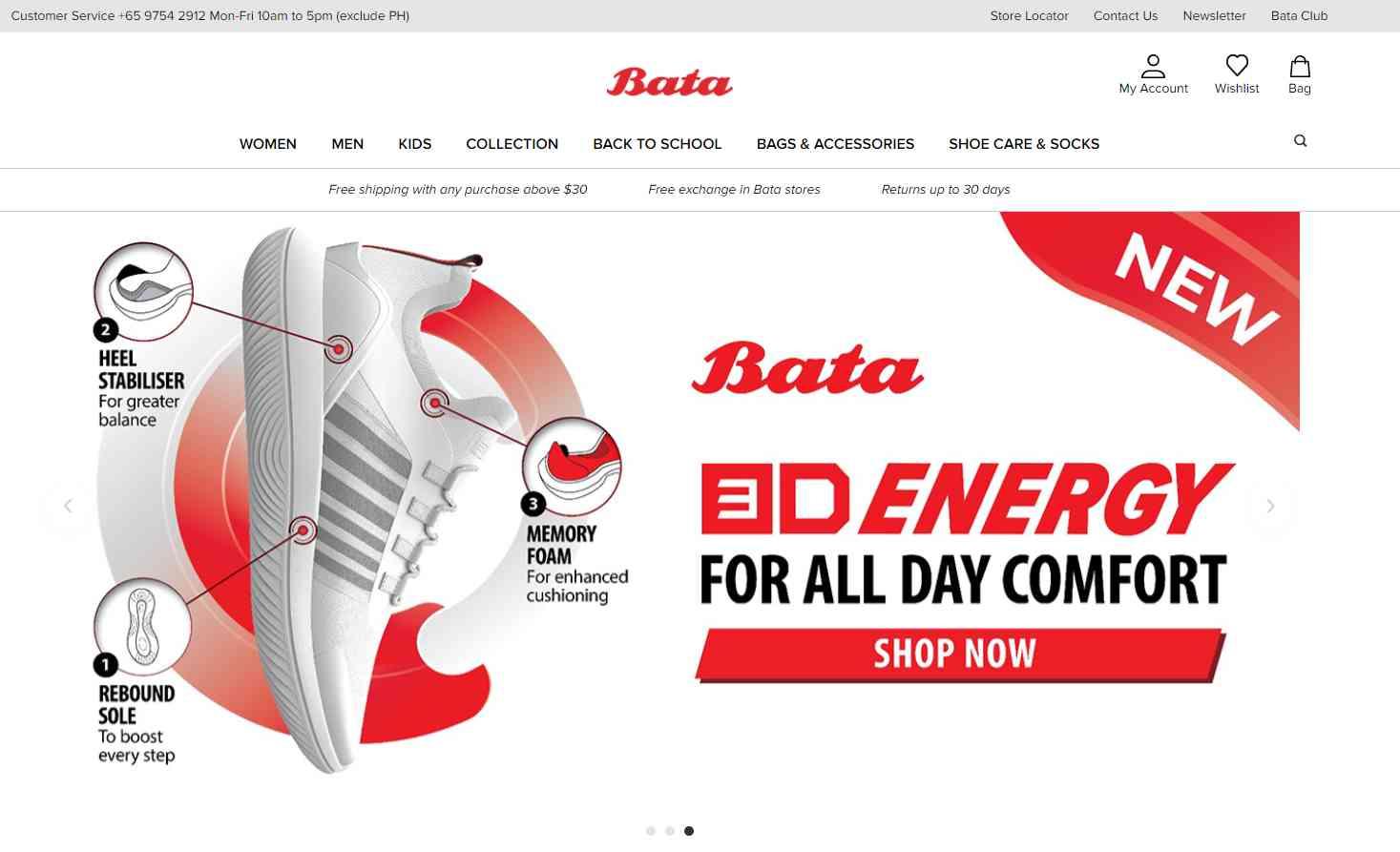 bata Top Clogs Retailers in Singapore