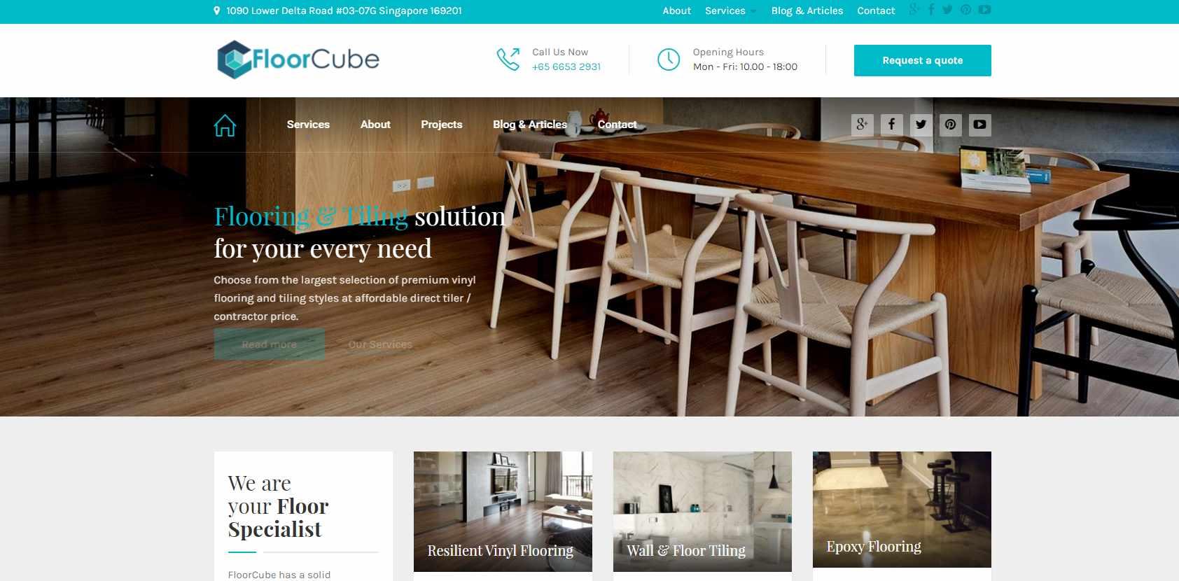 floor cube Top Epoxy Flooring Provider in Singapore