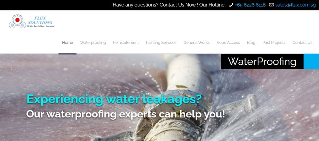 Flux Solution Top Waterproofing Services in Singapore