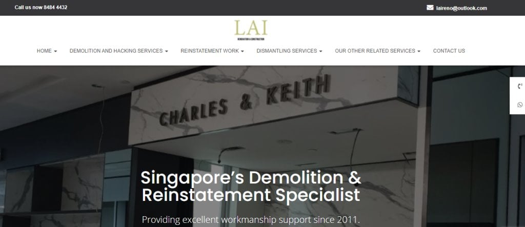 Lai Top Waterproofing Services in Singapore