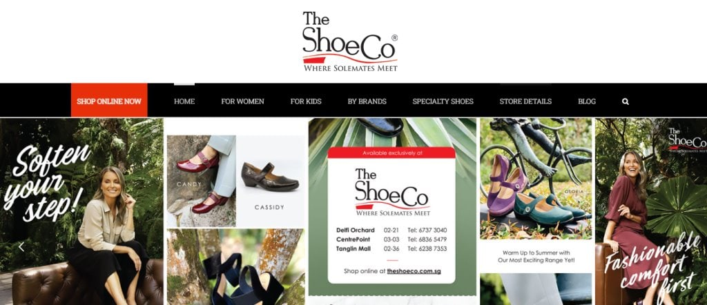 The Shoe Co. Top Shoe Brands in Singapore