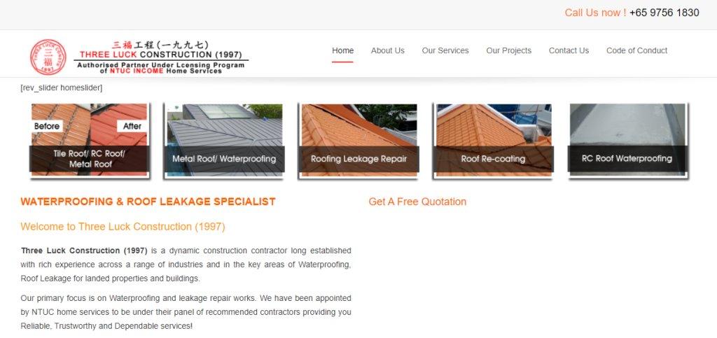 ThreeLuck Top Waterproofing Services in Singapore