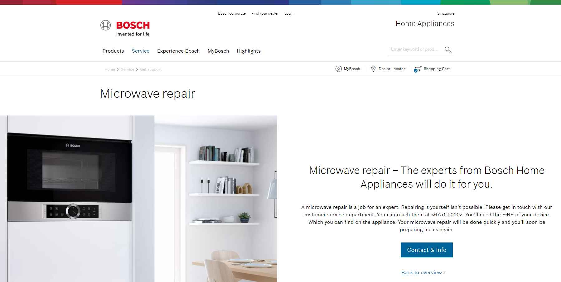 bosch Top Microwave Repair Services in Singapore