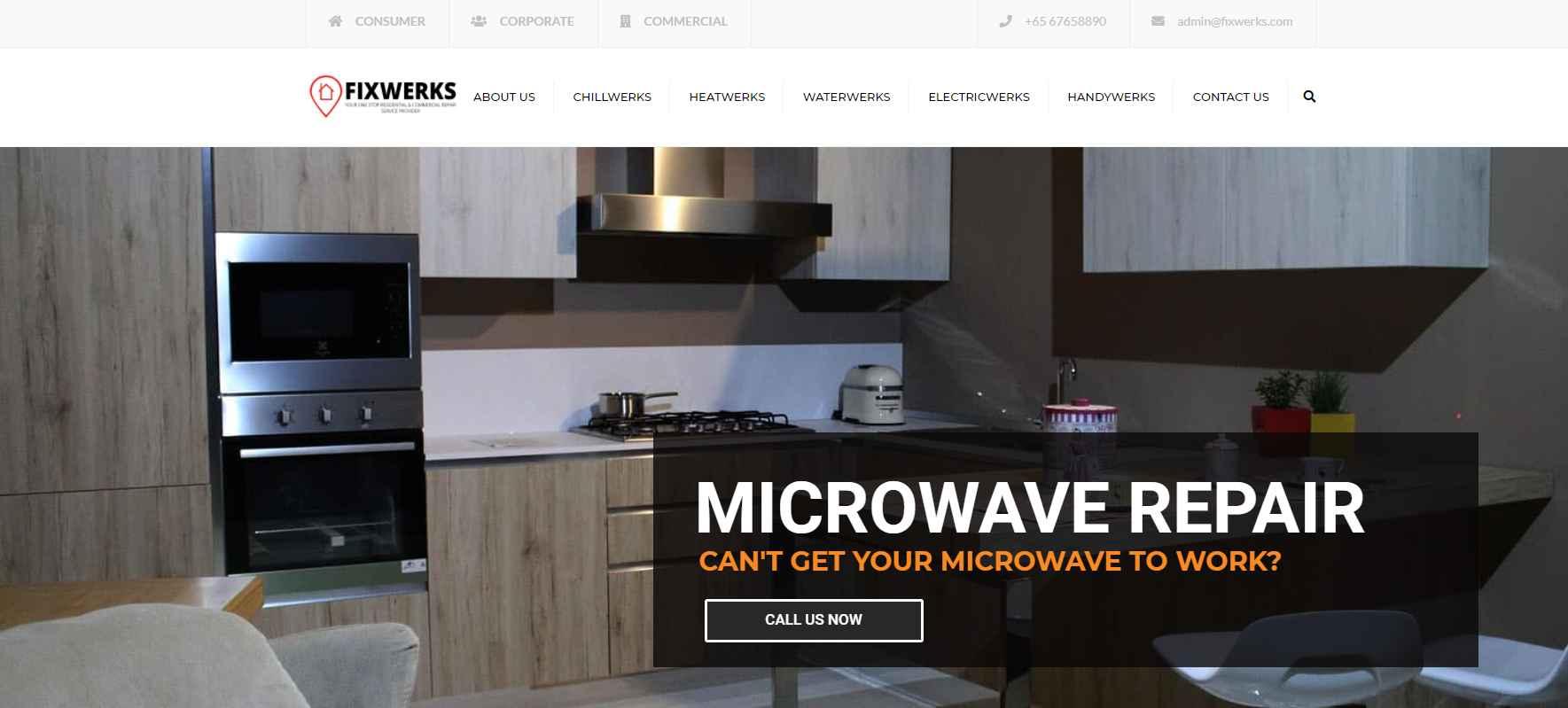 fixwerks Top Microwave Repair Services in Singapore