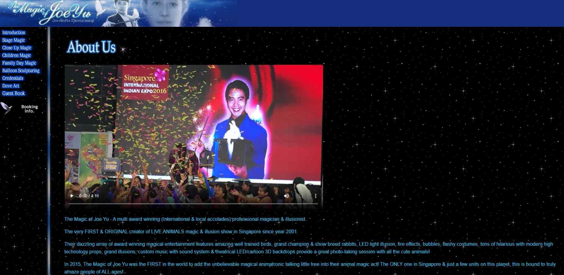 joeyu Top Magicians in Singapore