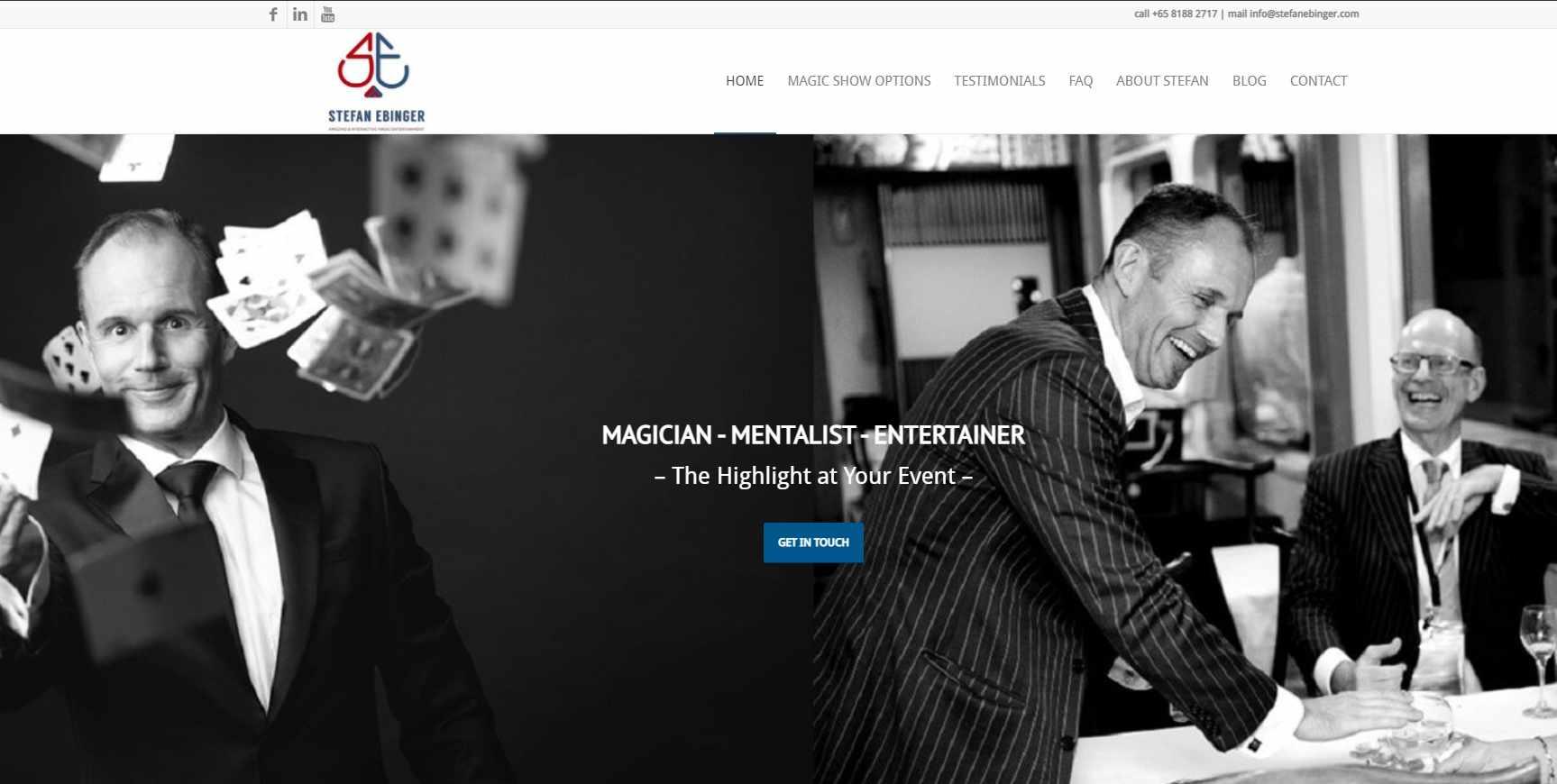 stefan ebinger Top Magicians in Singapore